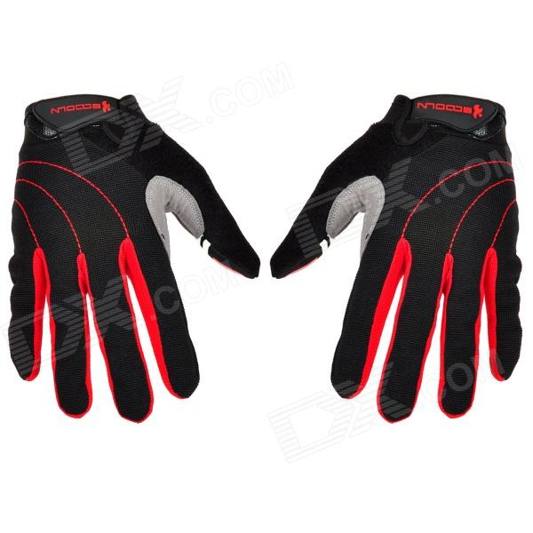 Outdoor Sports Cycling Full-Finger Spandex Gloves - Black + Red (Pair / Size-L) u80 smart watch with pedometer function