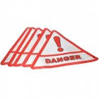 Triangle Safety Reflective Warning Sticker for Car / Vehicle - Silver + Red (5 PCS)