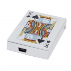 HONG XUAN Poker Style USB Rechargeable Lighter w/ Banknote Identifying Lamp - Multicolored (5V)