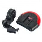 Coolchange Waterproof PC Bicycle 3-Mode 5-LED Tail Warning Lamp w/ Holder - Red + White (2 x AAA)