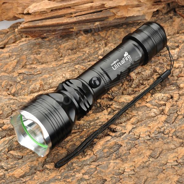 UIrtaFire C7 150lm 3-Mode White Flashlight w/ Cree XP-E R2 - Black (1 x 18650)