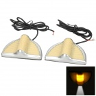Water Resistant 3W 140lm Yellow + White LED Yueda KIA Door Logo / Decoration Light (12~24V / 2 PCS)