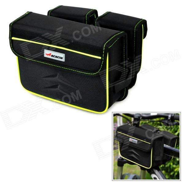 ACACIA 0413803 Cycling Bicycle Bike Frame Pannier Front Tube EVA Bag - Black coolchange waterproof bike bag frame front head top tube cycling bag double ipouch 6 2 inch touch screen bicycle bag accessories