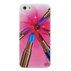 Lipsticks Pattern Protective TPU Back Case for Iphone 5 - Multicolor