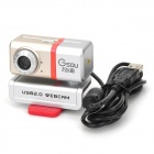 Gsou H50 USB 2.0 FULL HD 1080P CMOS Camera w/ Microphone for Laptop / Desktop Computer - Silver