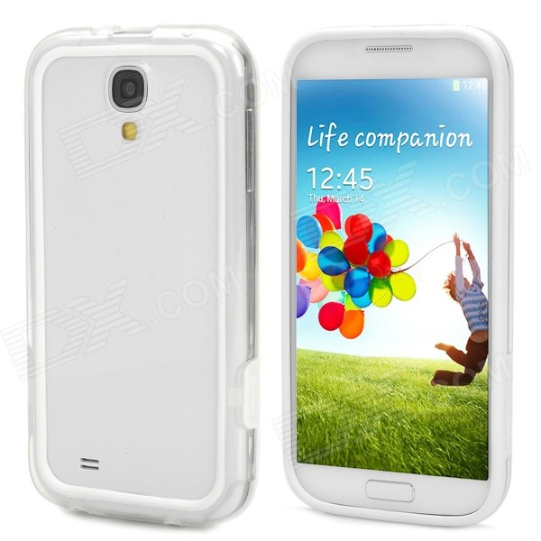 2-in-1 Protective PC + PVC Bumper Frame for Samsung Galaxy S4 i9500 - White + Transparent аксессуар защитная пленка samsung galaxy j1 mini prime 2016 luxcase антибликовая 52581