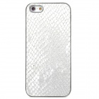 Snake Skin Style Protective Plastic Back Case for Iphone 5 - Silver