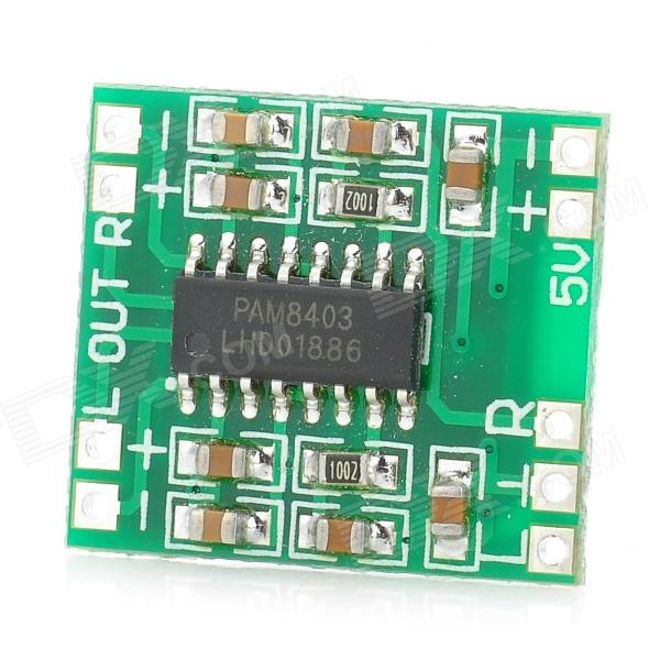 Mini Digital Audio Amplifier Board - Green