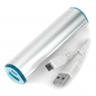 "External ""2600mAh"" Power Battery Charger for Iphone 5 - Silver"