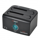 "ORICO 8628US3-C-BK USB 3.0 SATA 2.5"" / 3.5"" Dual-HDD Docking w/ Smart Sleep / Copy Display - Black"