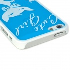 Cute Cat Style Protective Plastic Back Case for Iphone 5 - Blue + White