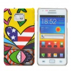 Protective Plastic Case for Samsung Galaxy S2 i9100 - Colorful