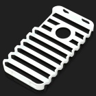 Ladder Style Protective Plastic Back Case for Iphone 4 / 4S - White