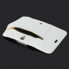 Zippered Wallet Design PU Flip Open Case for Samsung Galaxy S4 / i9500 - White + Black