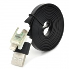 8-Pin Blitz Data / Laden Flat Cable w / Flash-RGB-LED für iPhone 5 / iPad 4 / Mini - Schwarz