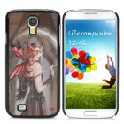 Protective 3D Beauty with Mask Pattern Plastic Back Case for  Samsung Galaxy S4  - Black + Red