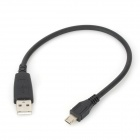 Micro USB Male to USB Male Data Cable - Black (25cm)