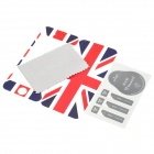 UK National Flag Style Protective Full Body Stickers Set for Iphone 5 - Red + White + Blue