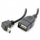 CY U2-040 Mini USB Male to USB Female Connection Data Cable for Car Speaker - Black (50 CM)