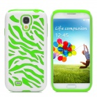 Protective Silicone + PC Case for Samsung Galaxy S4 i9500 - Green + White