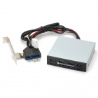 "PCI-E 3.5"" Floppy-bit 8-port USB 3.0 + USB 2.0 Aluminum Alloy Multifunction Panel - Silver gray"