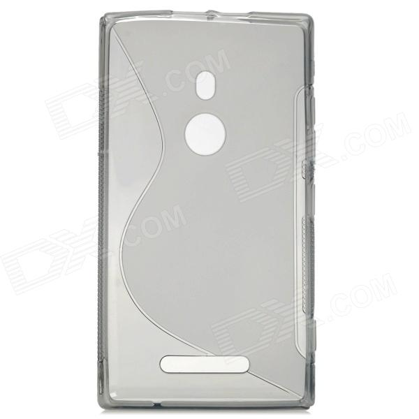 S Pattern Protective Soft Plastic Case for Nokia Lumia 925 - Translucent Grey s style protective soft tpu back case for nokia lumia 928 translucent grey