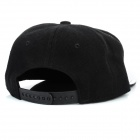 Brillante Hip-Hop Style Canvas Cap Hat - Plata + Negro
