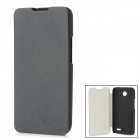 Protective PU Leather Flip Open Case for Lenovo A820 - Black