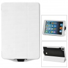 External 5000mAh Power Battery Charger w/ PU Leather Case for iPad Mini - White
