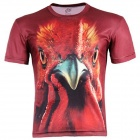 LAONONGZHUANG Cool 3D Turkey Style Men's T-Shirt - Dark Red (Size XL)