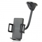 Universal Suction Cup Car Mount Holder for 50~70mm Width Devices - Black