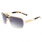 LANGTEMENG J58143 Fashion Classic Men's UV400 Protection Sunglasses - Golden