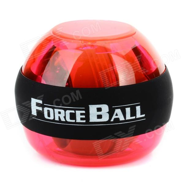 Plastic + Silicone Wrist / Fingers / Arm Training Force Ball w/ LED - Red + Green + Black