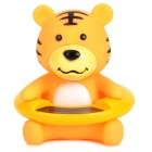 Baby's Cute Tiger Style Bathtub Bathing Water Thermometer - Orange + Yellow + Black