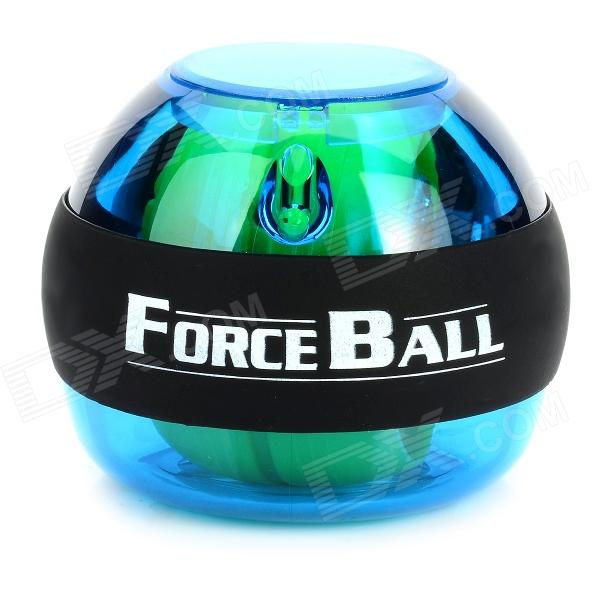 Plastic + Silicone Wrist / Fingers / Arm Training Force Ball w/ LED - Blue + Green + Black