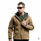 Outdoor Men's Waterproof Windproof Polyester + Spandex Jacket - Brown (Size L)
