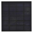 1.5W Laminated Solar Monocrystalline Silicon Cell Panel Board - Black