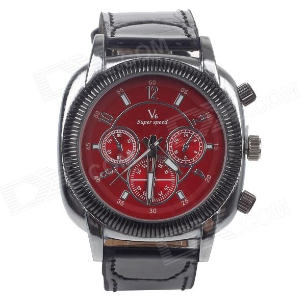 V6 V00159-BR Fashionable Men's Quartz Watch - Red + Black(1 x LR44) bosch 1600 a 00159