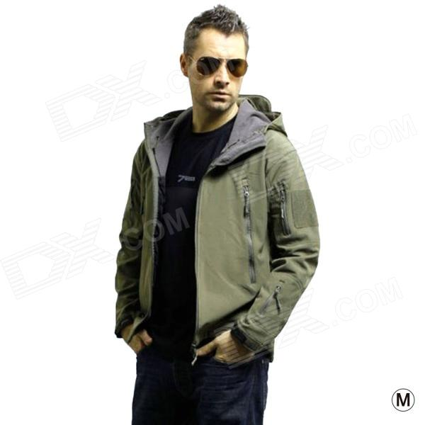 Men's Waterproof Windproof Polyester + Spandex Outdoor Jacket - Army Green (Size M)