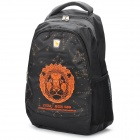 Oiwas OCB4101 Leo Theme Pattern Leisure Backpack - Orange + Black