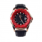 MG.ORKINA MG025-R Fashionable Men's Quartz Watch / Simple Calendar - Black + Red + Golden (1 x LR44)