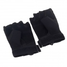 Stylish Outdoor Half Finger Gloves - Black ( Size L / Pair)