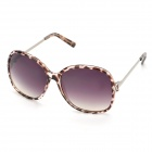 Fashion Leopard Pattern UV400 Protection Sunglasses for Women - Brown