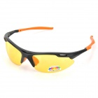 CARSHIRO 903 Cycling Night Vision Yellow Polarized Resin Lens Goggles - Black + Orange