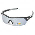 NBIKE 9369-C3 Outdoor Sports Cycling UV400 Protection Resin Lens Sunglasses / Goggles - Black + Grey