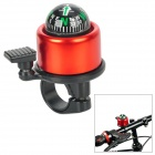 Coolchange Aluminum Alloy + Plastic Cycling Bicycle Bell w/ external Clapper + Compass - Red + Black