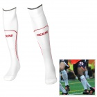 SS1301-WH Combed Cotton + Yarn Football Socks - White (Pair)