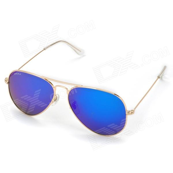 Oreka 3025 Fashion Blue Polarized Lens UV400 Protection Sunglasses - Golden bl