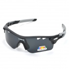 NBIKE 9559 Bicycle Riding Resin Polarized Lens Sunglasses - Black + Grey