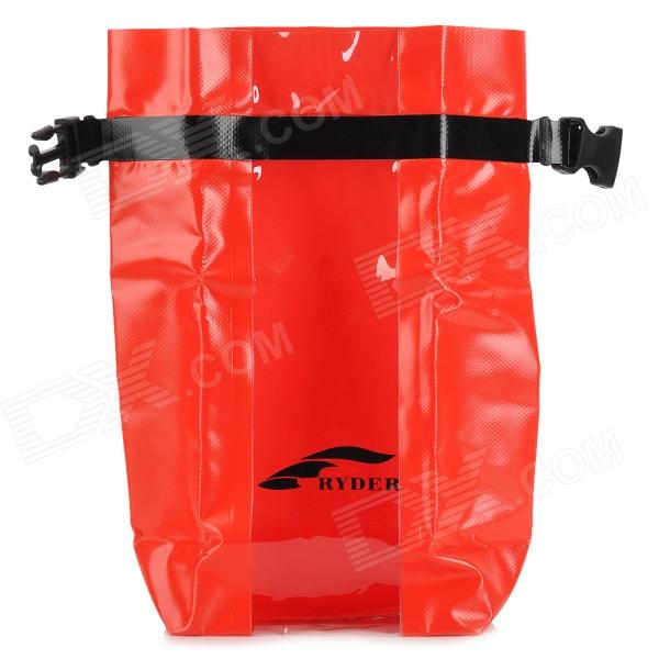 Ryder C1014 Outdoor Laminated Ultra Light Waterproof Bag - Red + Black (5L)